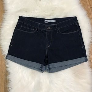 levi's jean shorts blue wash size 30